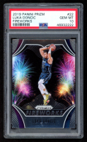 Luka Doncic 2019-20 Panini Prizm Fireworks #22 (PSA 10) at PristineAuction.com