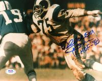 "Deacon Jones Signed Rams 8x10 Photo Inscribed ""HOF-80"" (PSA COA) at PristineAuction.com"