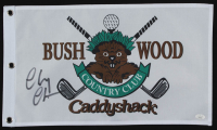 """Chevy Chase Signed """"Caddyshack"""" Bushwood Country Club Pin Flag (JSA Hologram) at PristineAuction.com"""