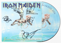 "LE Iron Maiden ""Seventh Son of a Seventh Son"" Album Poster Insert With Picture Disc Signed by (5) With Bruce Dickinson, Steve Harris, Nicko McBrain, Dave Murray (Beckett LOA) at PristineAuction.com"