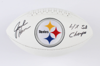 """Jack Ham Signed Steelers Logo Football Inscribed """"4x SB Champs"""" (Beckett COA) at PristineAuction.com"""