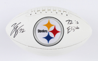 """Zach Banner Signed Steelers Logo Football Inscribed """"72 is Eligible!"""" (Beckett COA) at PristineAuction.com"""