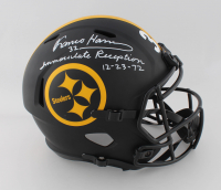 """Franco Harris Signed Steelers Eclipse Alternate Speed Full-Size Helmet Inscribed """"Immaculate Reception 12-23-72"""" (Beckett COA) at PristineAuction.com"""