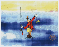"""1942 Walt Disney """"How To Fish"""" 11x14 Limited Edition Serigraph Cel at PristineAuction.com"""