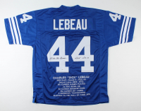 """Dick LeBeau Signed Career Stats Jersey Inscribed """"HOF 2010"""" (Beckett COA) at PristineAuction.com"""