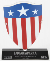 Captain America: The First Avenger Shield High Quality Metal Movie Prop Replica with Display Base at PristineAuction.com
