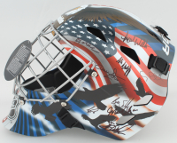 "1980 Team USA ""Miracle On Ice"" Full-Size Goalie Mask Team-Signed by (18) with Jim Craig, Mike Eruzione, Ken Morrow, Mark Wells (Schwartz Sports COA) at PristineAuction.com"