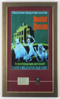 Disneyland 15.5x26.5 Custom Framed Poster Display with Vintage Ticket & Haunted Mansion Pin at PristineAuction.com