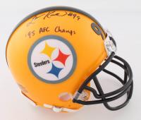 "Levon Kirkland Signed Steelers Mini Helmet Inscribed ""'95 AFC Champs"" (Beckett COA) at PristineAuction.com"