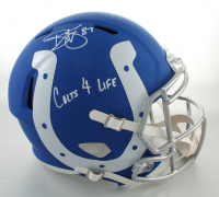 "Reggie Wayne Signed Colts Full-Size AMP Alternate Speed Helmet Inscribed ""Colts 4 Life"" (Beckett COA) at PristineAuction.com"