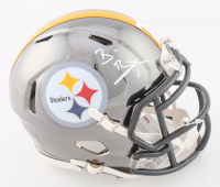 Ben Roethlisberger Signed Steelers Chrome Speed Mini Helmet (Fanatics Hologram) at PristineAuction.com