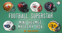 Schwartz Sports Football Superstar Signed Mini Helmet Mystery Box - Series 4 (Limited to 75) – NO DUPLICATES!!! at PristineAuction.com