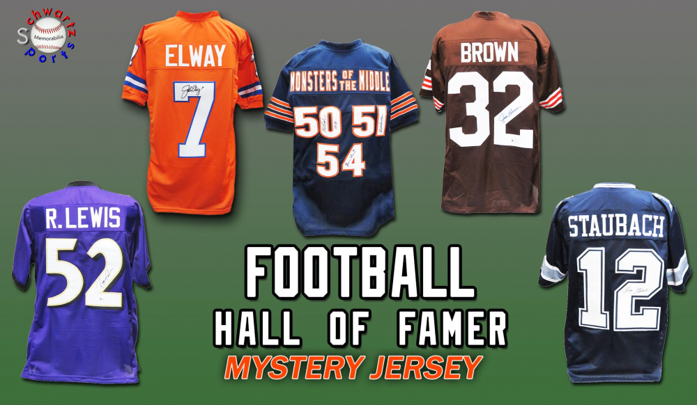 Schwartz Sports Football Hall of Famer Signed Football Jersey Mystery Box - Series 12 (Limited to 100) at PristineAuction.com