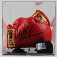 Mike Tyson Signed Pair Everlast Boxing Gloves with Display Case (PSA COA) at PristineAuction.com