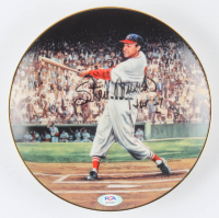 "Stan Musial Signed LE ""The Five Homer Double Header"" Porcelain Plate (PSA COA) at PristineAuction.com"