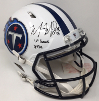 "Marcus Mariota Signed Tennessee Titans LE Full-Size Authentic On-Field Speed Helmet Inscribed ""1st Game 4 TDs"" (Steiner COA) at PristineAuction.com"