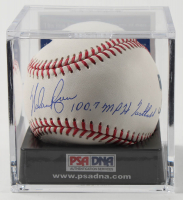 "Nolan Ryan Signed OML Baseball Inscribed ""100.7 MPH Fastball"" with Display Case (PSA COA - Graded 9.5) at PristineAuction.com"