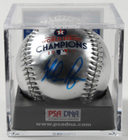 Nolan Ryan Signed Astros 2017 World Series Champions OML Baseball with Display Case (PSA COA - Graded 10) at PristineAuction.com