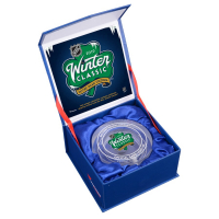 2019 NHL Winter Classic - Bruins vs. Blackhawks - Crystal Hockey Puck - Filled with Ice from the 2019 Winter Classic (Fanatics COA) at PristineAuction.com