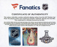 Pittsburgh Penguins 2017 Stanley Cup Champions - Crystal Hockey Puck - Filled with Ice from the 2017 Stanley Cup Final (Fanatics COA) at PristineAuction.com