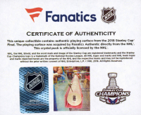 Washington Capitals 2018 Stanley Cup Champions - Crystal Hockey Puck - Filled with Ice from the 2018 Stanley Cup Final (Fanatics COA) at PristineAuction.com