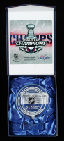 Washington Capitals 2018 Stanley Cup Champions - Crystal Hockey Puck - Filled with Ice from the 2018 Stanley Cup Final (Fanatics COA) (See Description) at PristineAuction.com