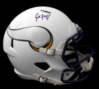 Brett Favre Signed Vikings Full-Size Matte White Speed Helmet (Radkte COA) at PristineAuction.com