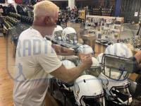 Brett Favre Signed Vikings Full-Size Matte White Speed Helmet (Radkte COA) at PristineAuction.com