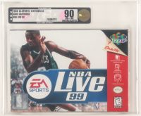 "1998 ""NBA Live 99"" Nintendo 64 Video Game (VGA 90) at PristineAuction.com"