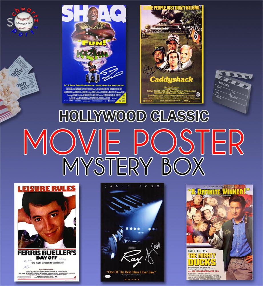 Schwartz Sports Hollywood Classic Movies Signed 11x17 Movie Posters Mystery Box - Series 14 (Limited to 75) ** Multiple Full Size Movie Poster Redemptions** at PristineAuction.com