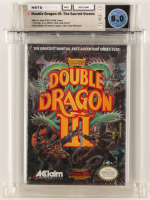 "1991 ""Double Dragon III: The Sacred Stones"" NES Video Game (WATA 8.0) at PristineAuction.com"