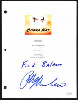 "Ralph Macchio Signed ""Cobra Kai"" Full Script Inscribed ""Find Balance"" (AutographCOA COA) at PristineAuction.com"