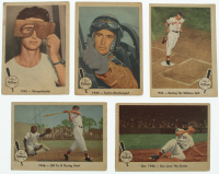 Lot of (5) 1959 Fleer Ted Williams Baseball Cards with #24 1945 Sharpshooter, #25 1945 Ted Discharged, #26 Off to Flying Start at PristineAuction.com
