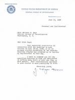 J. Edgar Hoover Signed 1956 FBI Letter (Beckett COA) at PristineAuction.com