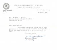 J. Edgar Hoover Signed 1967 FBI Letter (Beckett COA) at PristineAuction.com