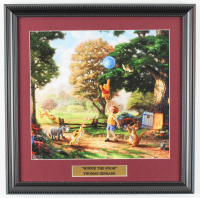 "Thomas Kinkade Walt Disney's ""Winnie the Pooh"" 16x16 Custom Framed Print Display at PristineAuction.com"