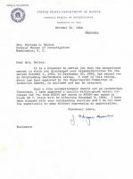 J. Edgar Hoover Signed 1964 FBI Letter (Beckett COA) at PristineAuction.com