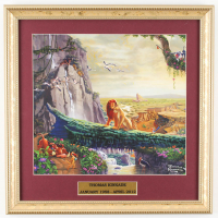 "Thomas Kinkade Walt Disney's ""The Lion King"" 15.75x15.75 Custom Framed Print Display at PristineAuction.com"