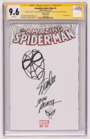 "Stan Lee & John Romita Signed 2015 ""The Amazing Spider-Man"" Issue #1 Marvel Comic Book with (2) Hand-Drawn Spider-Man Sketches (CGC 9.6) at PristineAuction.com"