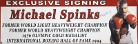 "Michael Spinks Signed ""Exclusive Signing"" 24x72 Photo Banner Inscribed ""Jinx"" (Tracy Stallard Hologram) at PristineAuction.com"