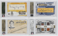 Lot of (4) Graded Hockey Cards with 2005-06 ITG Ultimate Memorabilia Paper Cuts Autographs (In The Game Encapsulated), Eddie Shore 2009-10 Famous Fabrics Second Edition Enshrined (Famous Fabrics Encapsulated) at PristineAuction.com