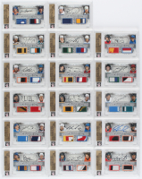 Complete Set of (17) In The Game Graded 2012-13 ITG Ultimate Memorabilia Journey Dual Patch Autographs Hockey Cards at PristineAuction.com