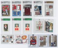 Lot of (15) Montreal Canadiens Autograph & Memorabilia Hockey Cards with Patrick Roy, Jacques Plante, Carey Price at PristineAuction.com