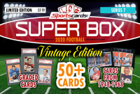"Sportscards.com ""SUPER BOX"" VINTAGE FOOTBALL MYSTERY BOX Series 7 – 50 CARDS! at PristineAuction.com"
