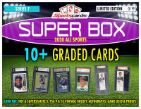 "Sportscards.com ""SUPER BOX"" 10+ GRADED CARDS PER BOX!! ALL SPORTS Edition Mystery Box -Series 7 at PristineAuction.com"