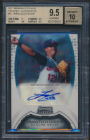 Francisco Lindor 2011 Bowman Sterling Prospect Autographs RC (BGS 9.5) at PristineAuction.com