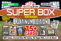"Sportscards.com ""SUPER BOX"" BASEBALL **PLATINUM EDITION** Mystery Box Series 8 at PristineAuction.com"