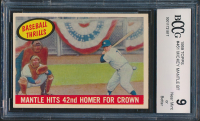 Mickey Mantle 1959 Topps BT #461 (BCCG 9) at PristineAuction.com