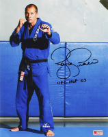 "Royce Gracie Signed UFC 11x14 Photo Inscribed ""UFC HOF 03"" (PA COA) at PristineAuction.com"