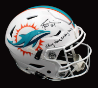 "Ricky Williams Signed Dolphins Full-Size Authentic On-Field SpeedFlex Helmet Inscribed ""Hitting Holes, Smoking Bowls"" (Radtke COA) at PristineAuction.com"